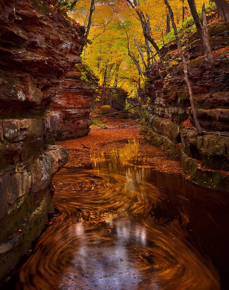 3d Wallpaper Natural Beauty Pewits Nest Baraboo Fall Wisconsin Colors Matt Anderson Ph