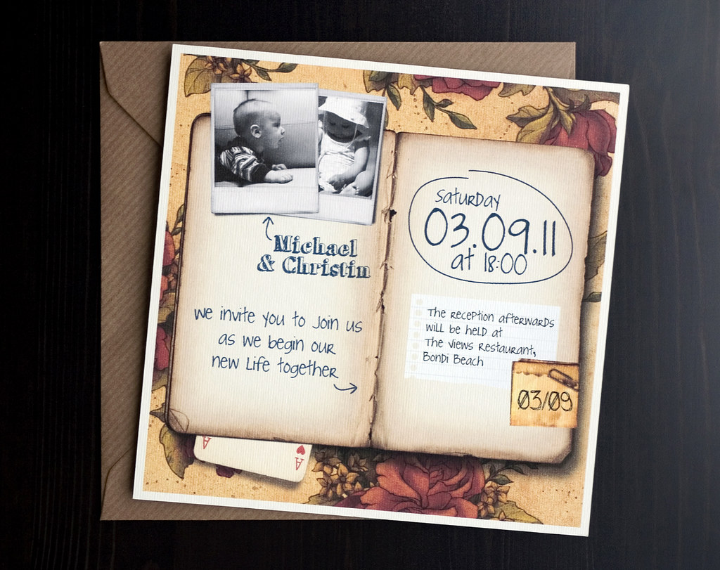 How to scrapbook a wedding invitation wedding invitation set scrapbook by somethingblue invitations with