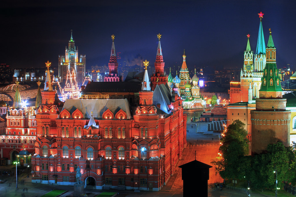 3d Xmas Wallpaper Free Heart Of Moscow Russia Russland Moscow Moskau Night