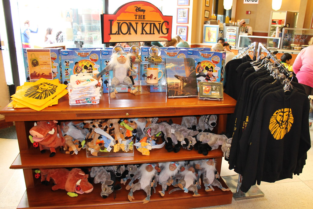 lion king theater merchandise