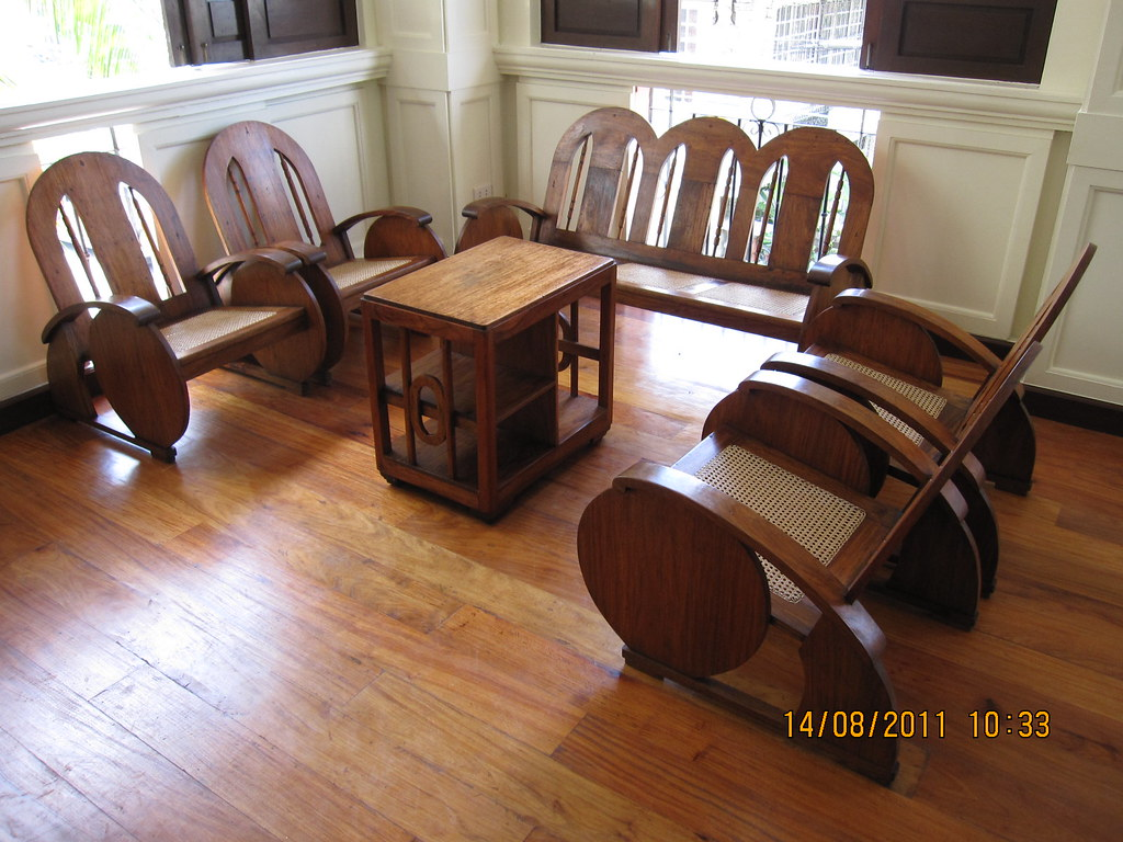 Antique Narra Sala Set Charitable Fund Raiser Ambassador Sala Set A Five Piece