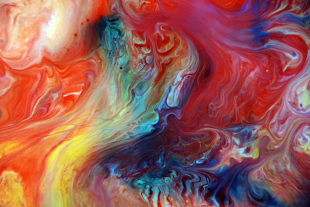 3d Colours Wallpaper Heart Fluid Art This Is A Close Up Shot From One Of My