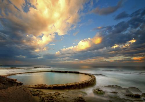 Sunrise 3d Wallpaper The Wading Pool At Sunrise Laguna Ca Please View