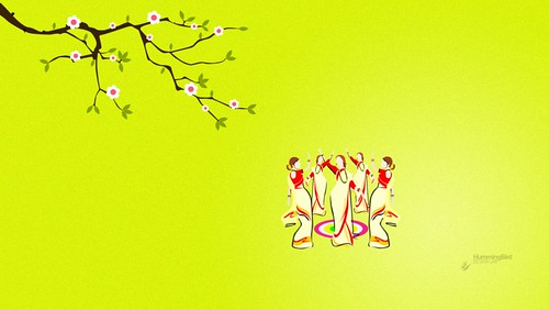 Cartoon Wallpapers Hd 3d Onam Special Wallpaper Thiruvathira Kali Humming Bird