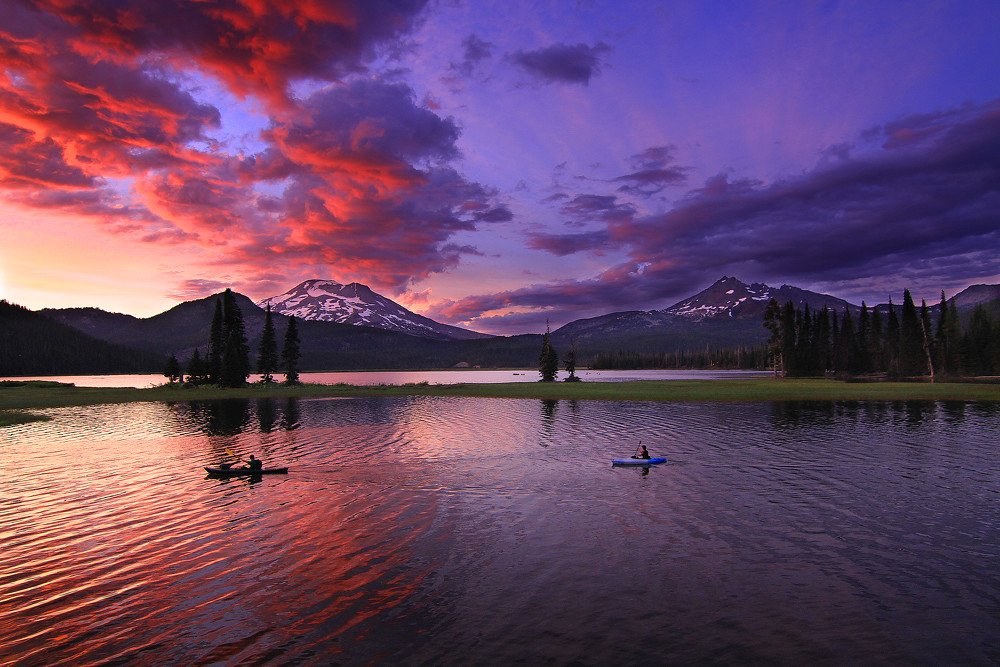 Free 3d Desktop Wallpapers Backgrounds The Moods Of Sparks Lake The Sunset Last Night At Sparks