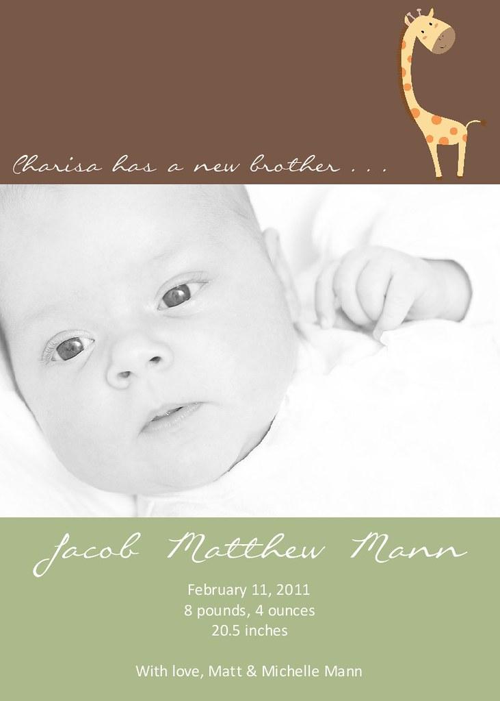 Photo Birth Announcement or Adoption Announcement 12 Flickr