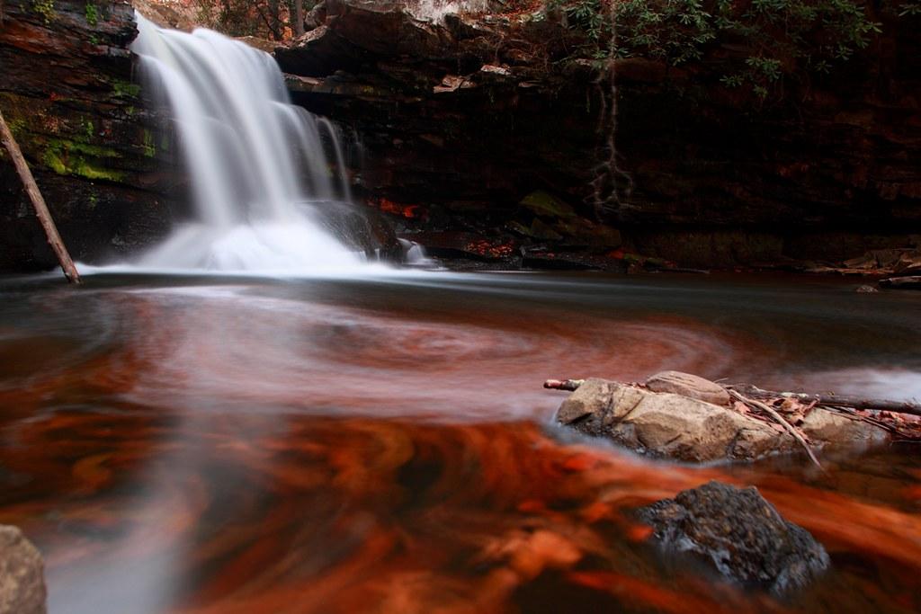 Fall Season Wallpaper Free Fiery Autumn Waterfall Fiery Autumn Waterfall Autumn