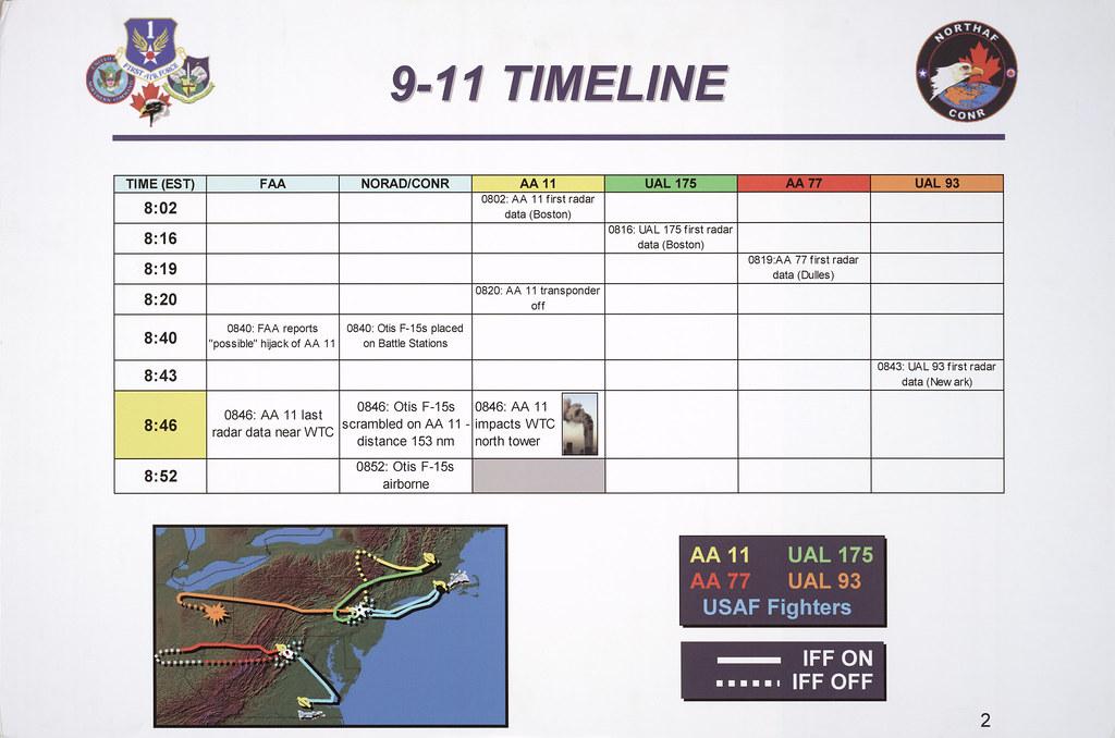 Map of Four Flights and Timeline of Events on September 11\u2026 Flickr