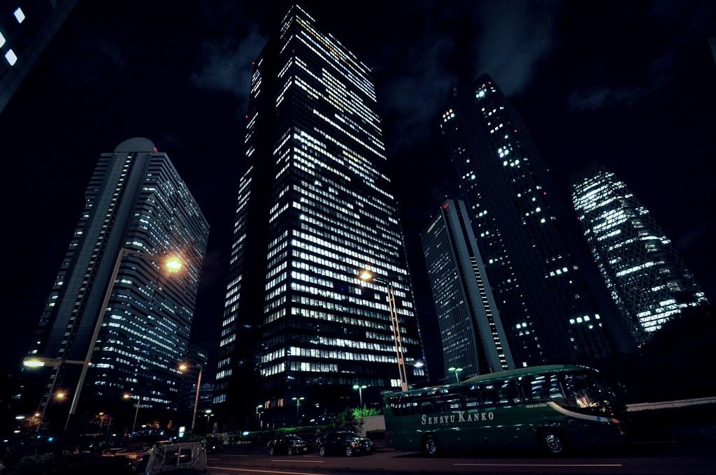 Night Sky 3d Wallpaper Skyscrapers Shinjuku Tokyo Hidehiko Sakashita Flickr