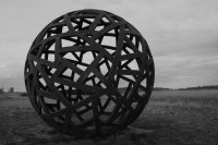 20111022_1602bw Metal ball near Cooma | Large steel ball ...
