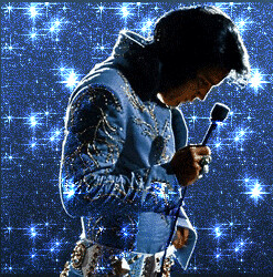 Elvis 3d Wallpaper Elvis In His Studded Blue Jumpsuit Elvis In His Studded