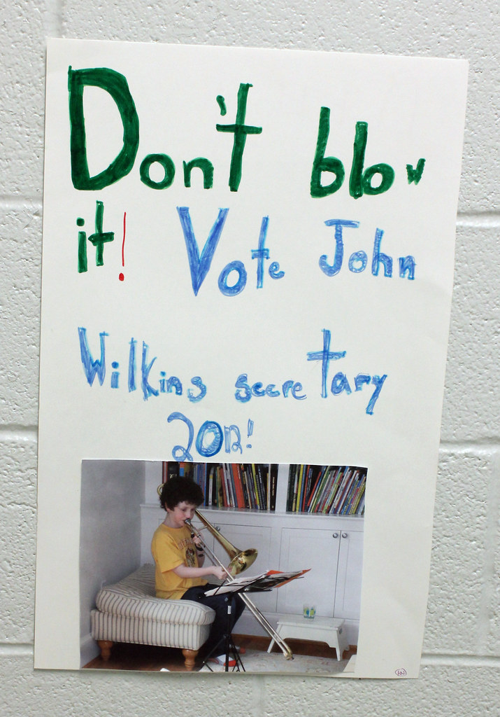 Bild Als Poster Don't Blow It: Grade School Elections Poster | Found In