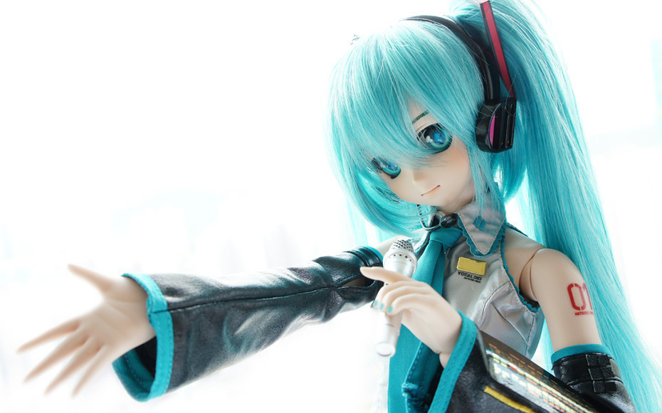 Snow Anime Wallpaper Hatsune Miku Dollfie Reader Yui Does It Again This