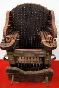 Interrogation Chair - Exhibition of Instruments of Medieva ...