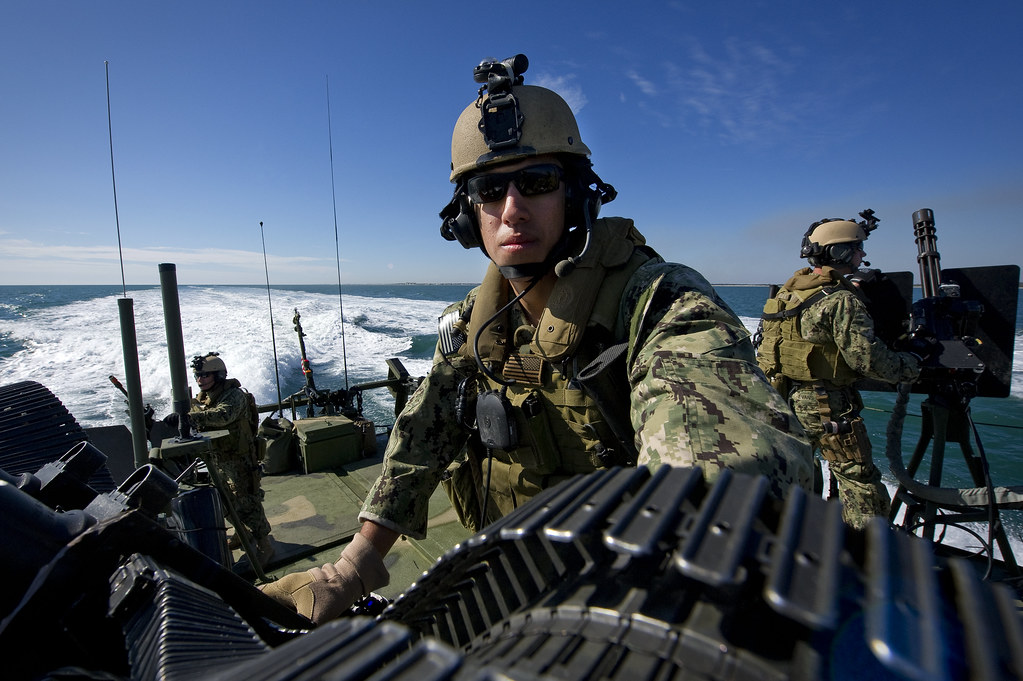 Master-at-Arms 3rd Class Steven Cabrera mans a twin 50-ca\u2026 Flickr - us navy master at arms