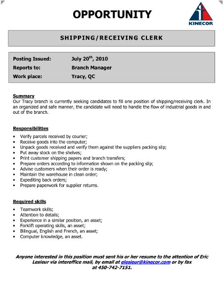 Shipping Receiving Clerk Resume (adsbygoogle \u003d windowadsb\u2026 Flickr - Shipping And Receiving Resume