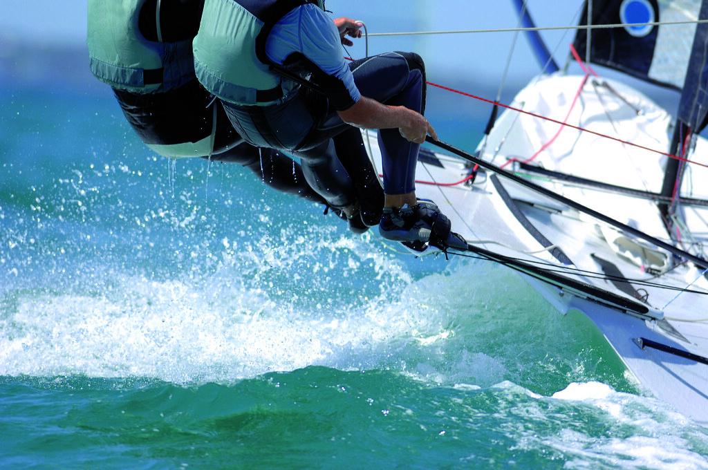 EOS CCA Saling team Sailors splash through the waves durin\u2026 EOS
