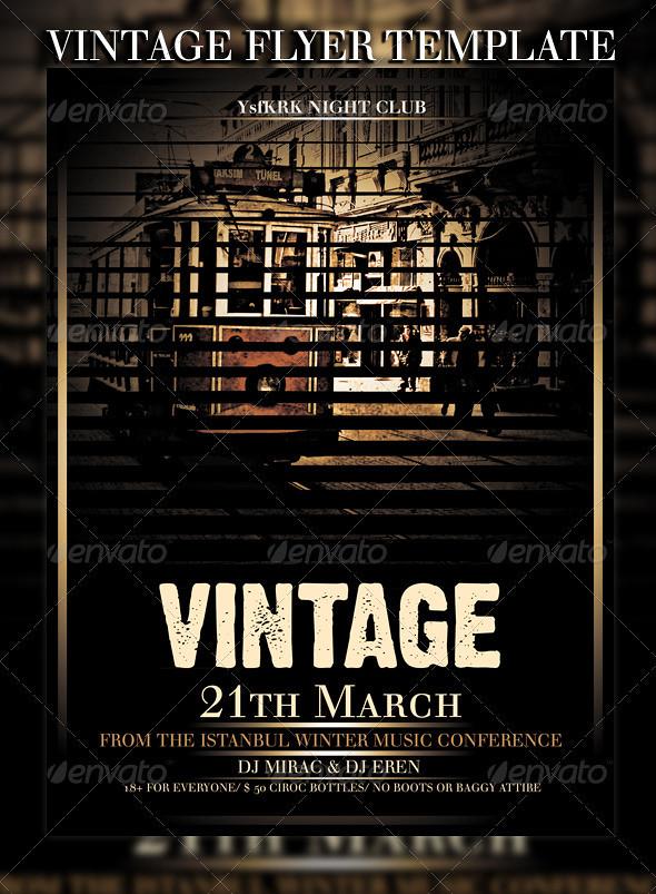 vintage flyer template download- graphicrivernet/item/vin\u2026 Flickr
