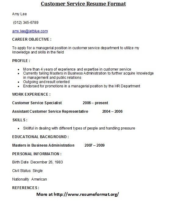 Customer Service Resume Format For more customer service r\u2026 Flickr