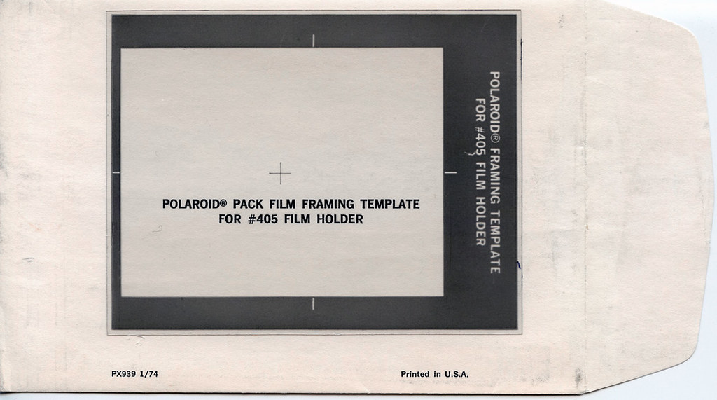 Polaroid Pack Film Framing Template for #405 Film Holder Flickr - polaroid template