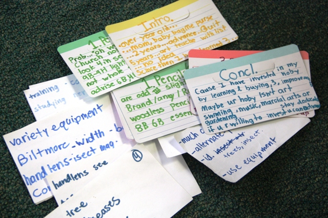 4h-speech notecards Sprite\u0027s cards (color coded, of course\u2026 Flickr