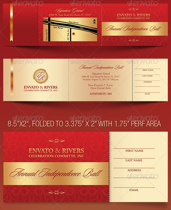 Folded Banquet Ticket Template This ticket template is gea\u2026 Flickr