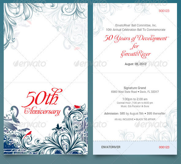 Folded Anniversary Ticket Template This ticket template is\u2026 Flickr - Ball Ticket Template
