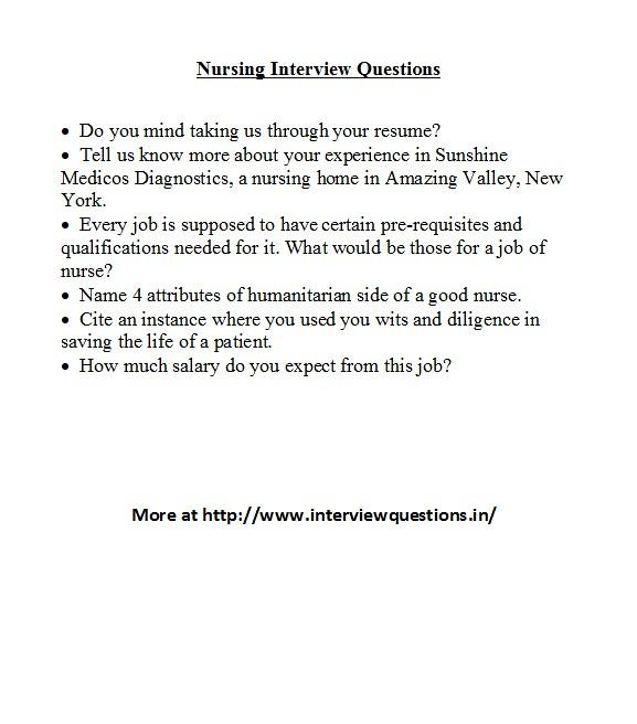 Nursing Interview Questions For more nursing related inter\u2026 Flickr