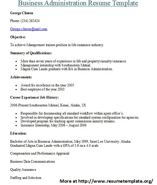 Business Administration Resume Template For more administr\u2026 Flickr - business administration resume samples