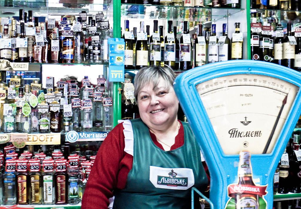 working women in the Ukraine II - shop assistant in Lviv Flickr - shop assistan