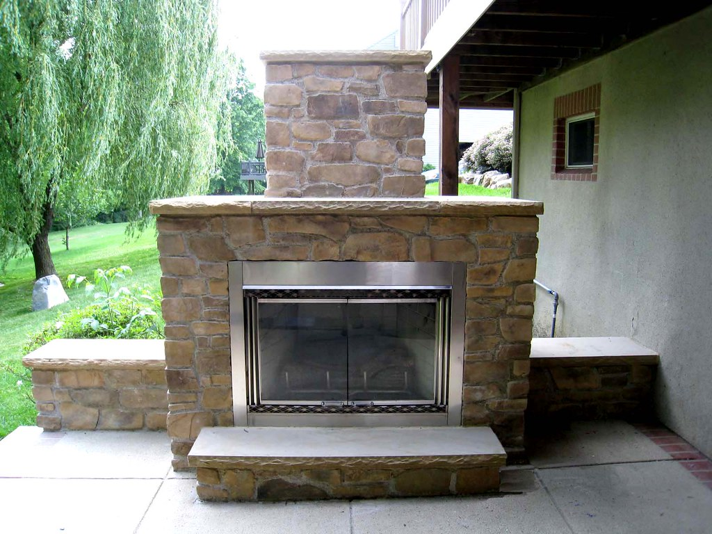 Outdoor Fireplace Electric Outdoor Stone Electric Fireplace