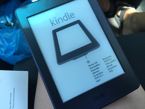 unboxing of my Kindle paperwhite