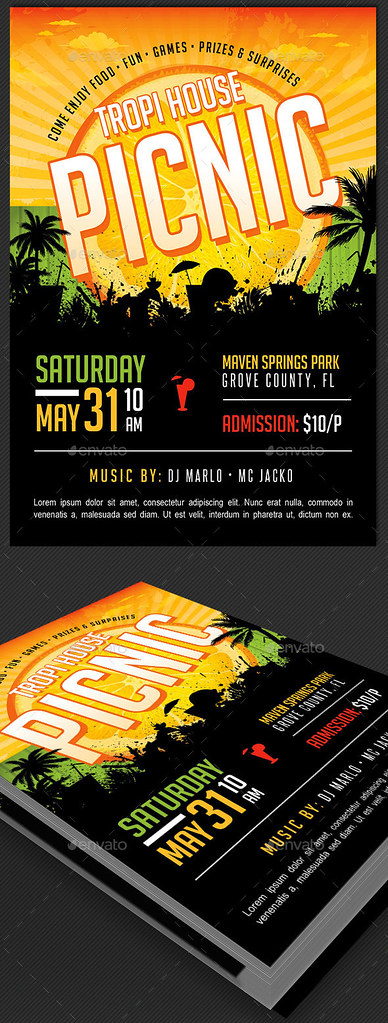 Tropical Picnic Flyer Template Tropical Picnic Flyer Templ\u2026 Flickr - picnic flyer template