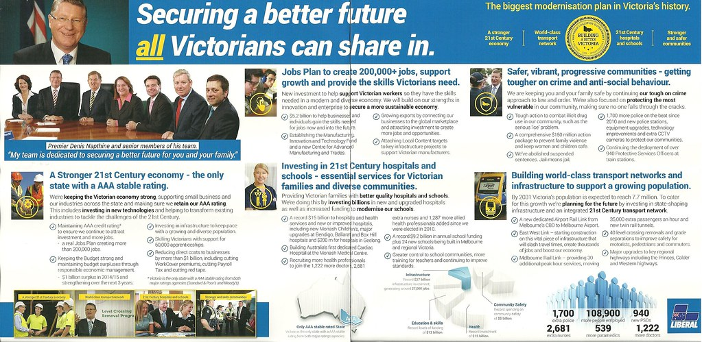 Liberal Party Policy Brochure, 2014 Victorian Election Flickr