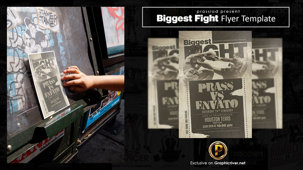 Biggest Fight Flyer Template DOWNLOAD PSD HERE  graphicri\u2026 Flickr