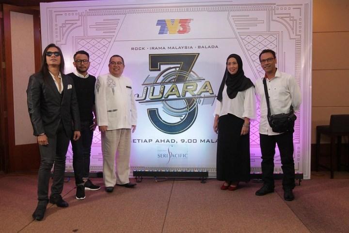 Edrie, Ajai, Pak Ngah, Pn Zurina, En Sufian merasmikan sesi ujibakat 3 Juara