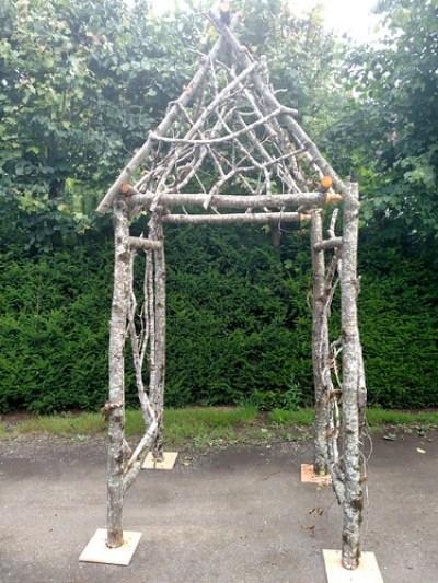 凉亭自然婚礼拱门