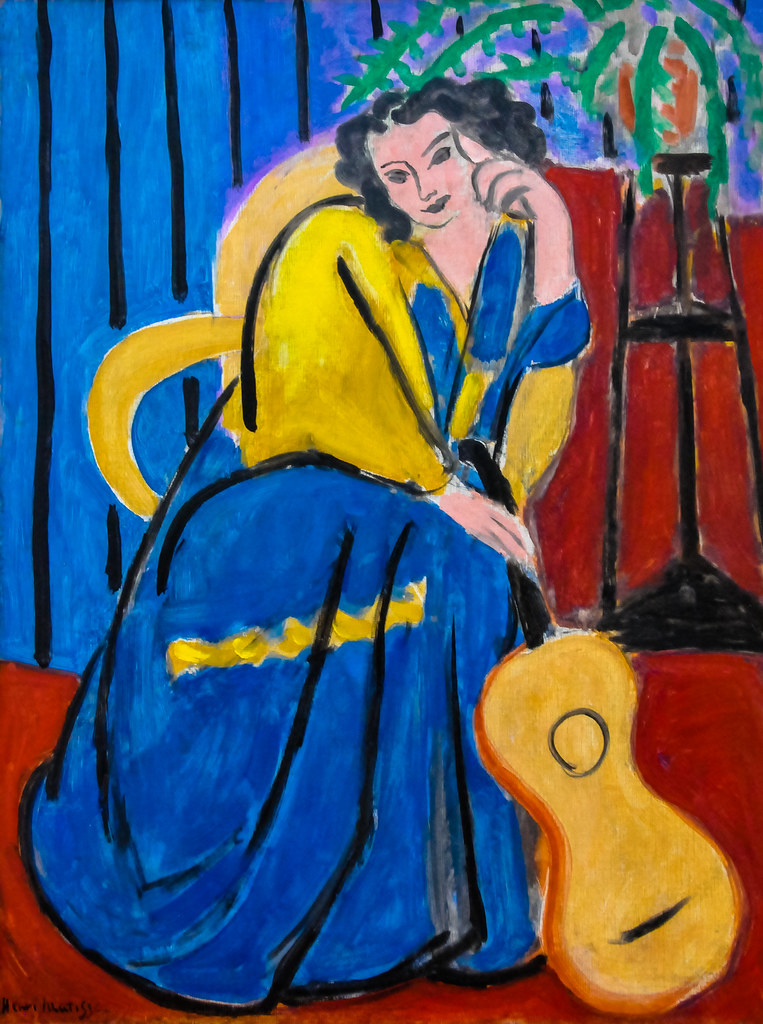3d Guitar Wallpaper Henri Matisse Girl In Yellow And Blue With Guitar 1939