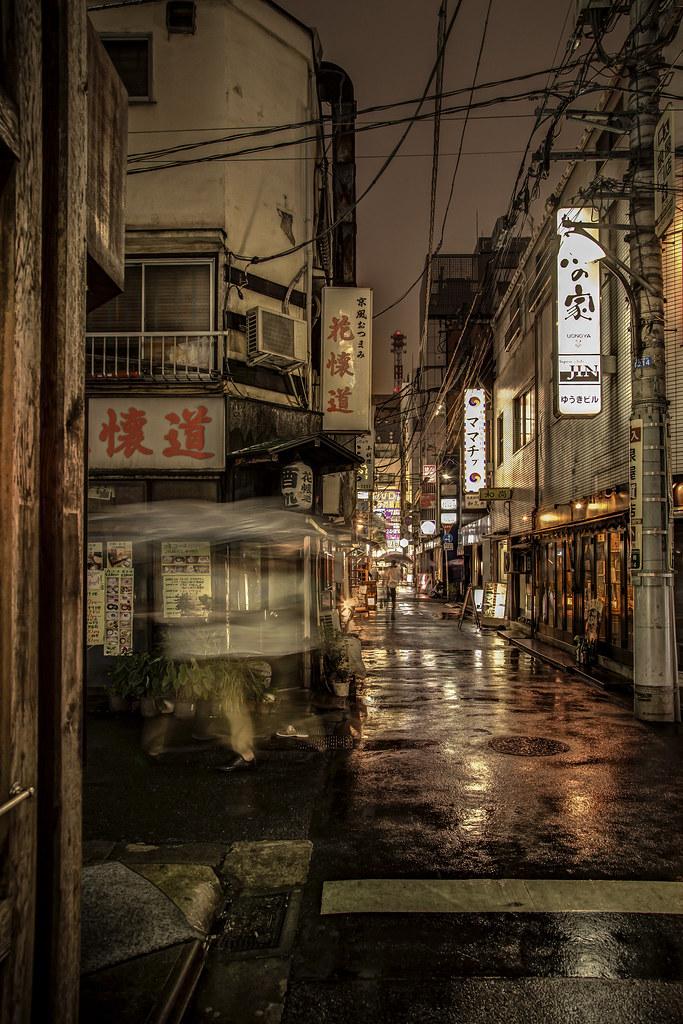 Wallpaper 3d Naruto Shimbashi Rain Shimbashi Minato Ku Tokyo Rain Japan