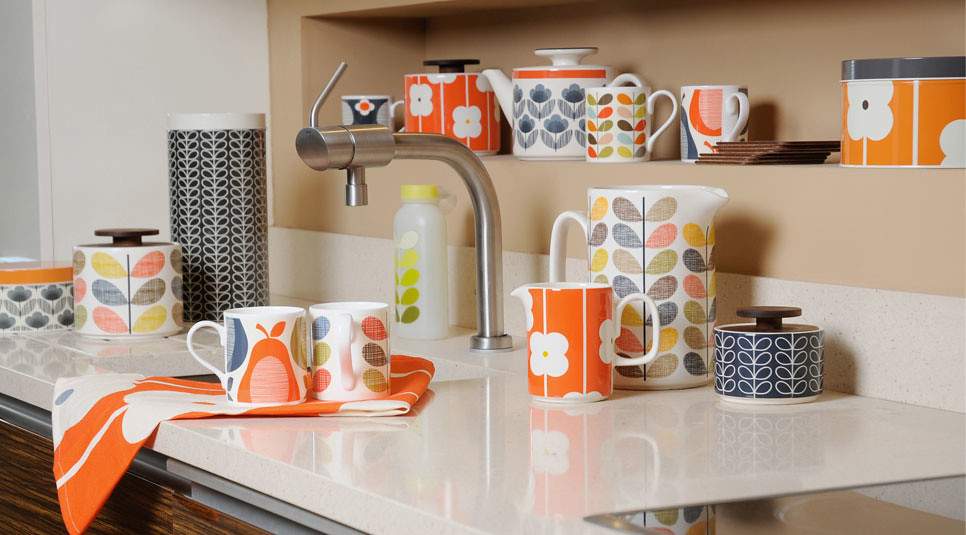 3d Wallpaper For Kitchen Orla Kiely Kitchen Accessories Add A Touch Of Colour To
