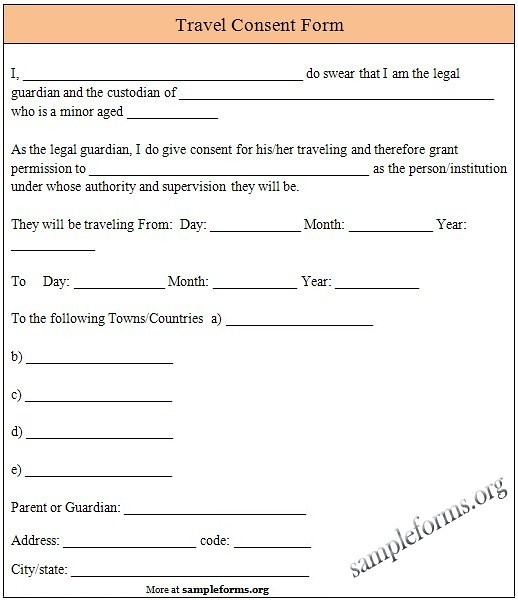 Sample Travel Consent Form For various consent forms visit\u2026 Flickr - parental consent to travel form