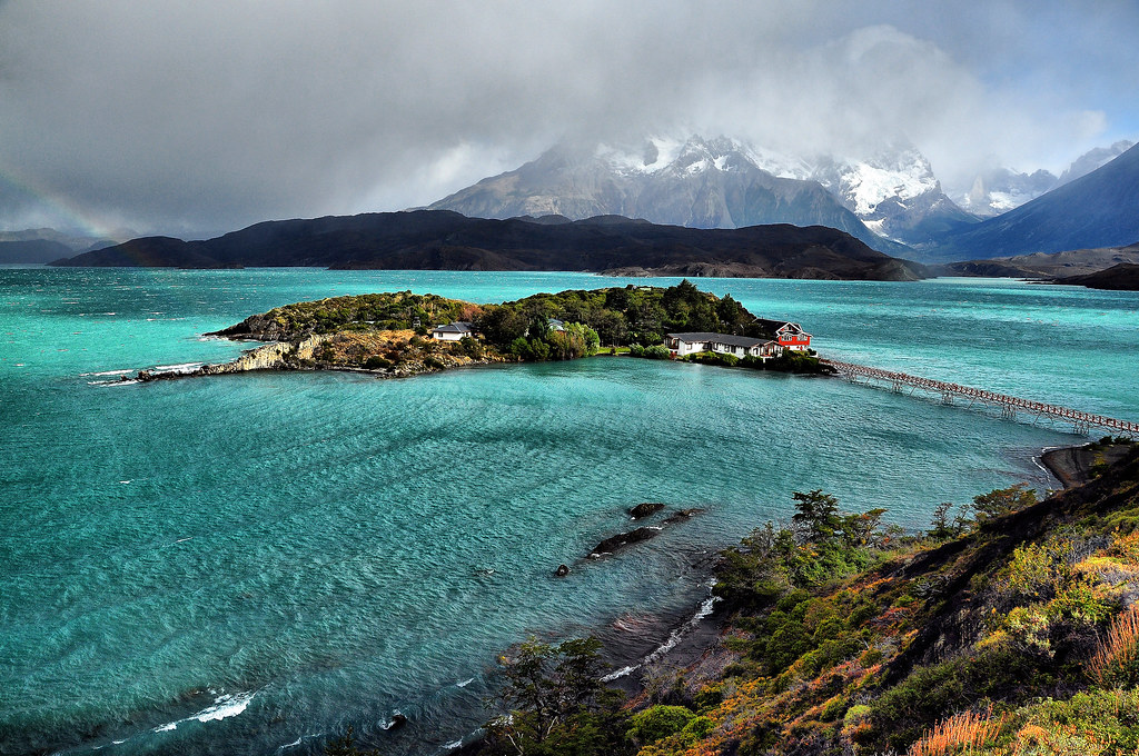 New 3d Wallpaper 1920x1080 Lago Pehoe Torres Del Paine Chile Lake Peho 233 Is A