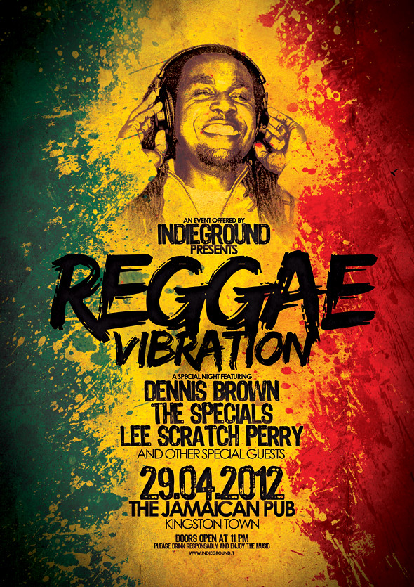 3d Wallpaper Download For Mobile Reggae Poster Template Vol 4 Download Link