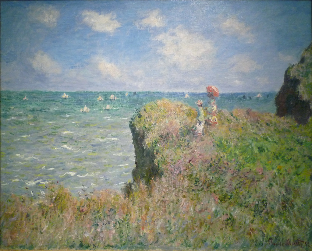 1 X 1 Monet, Cliff Walk At Pourville | Claude Monet, Cliff Walk