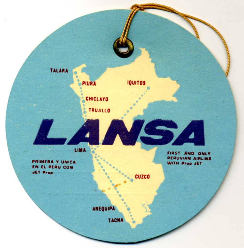 La Nsa Lansa Luggage Tag Lansa Luggage Tag From 1969 Lineas Aére Flickr