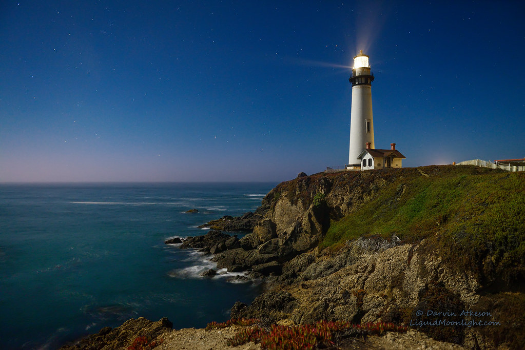 Northern Lights 3d Wallpaper Crystal Clear Moonlight Pigeon Point Lighthouse Best