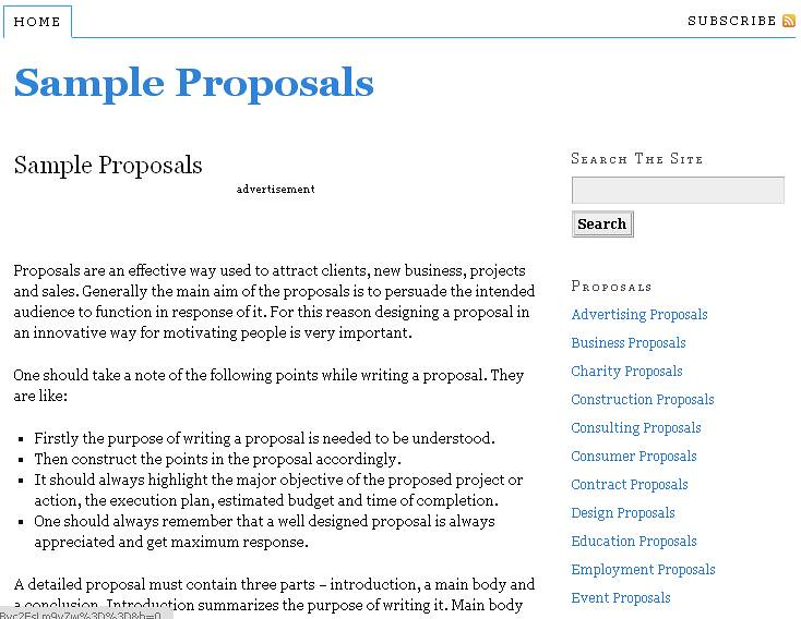 sample proposals - Pinarkubkireklamowe