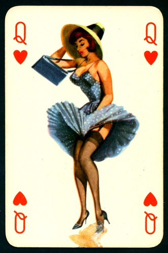 Navy Pin Up Girl Wallpaper Pin Up Playing Card Queen Of Hearts C1950 S