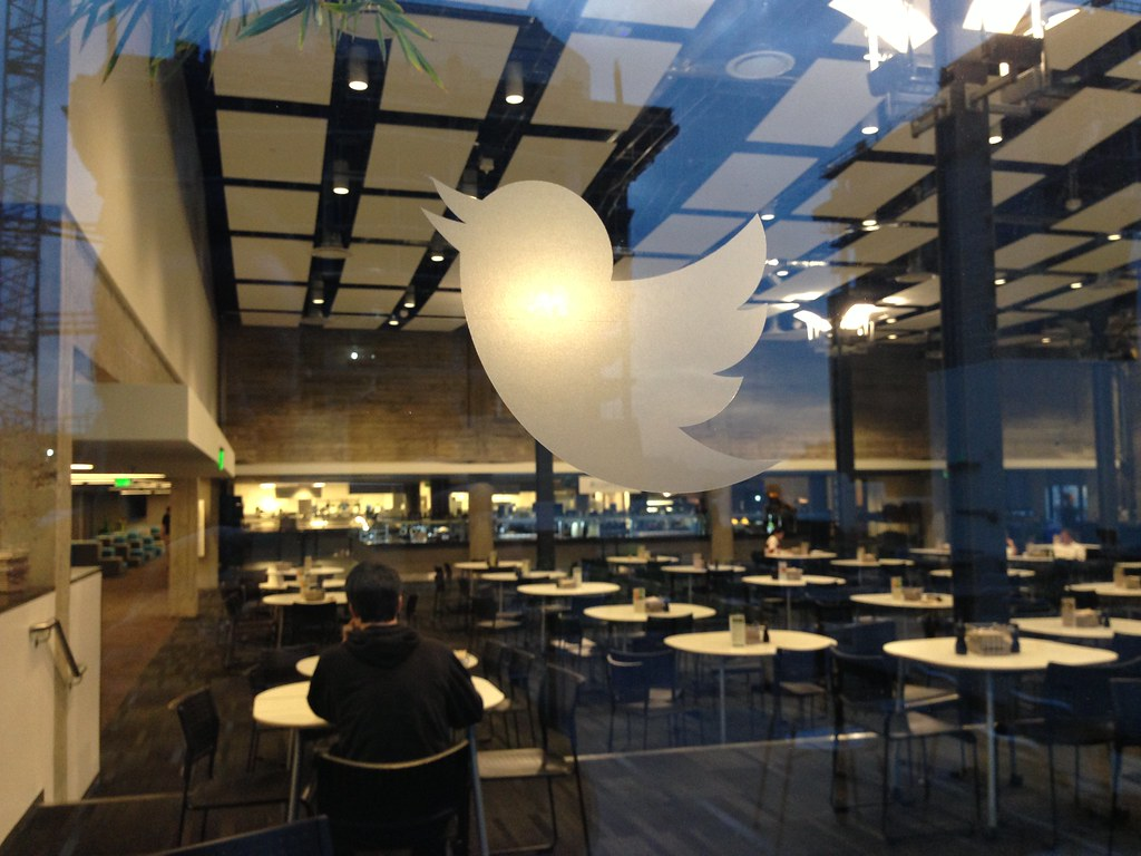 Chicago Interior Design Twitter Headquarters | Looking Into The Twitter Cafeteria