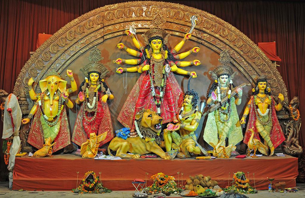 Durga Puja 3d Wallpaper Durga Idol 2012 Timarpur Delhi India Durga